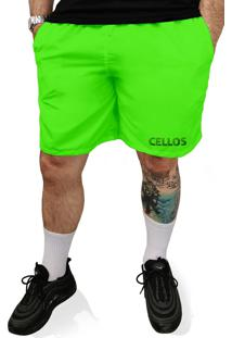 Bermuda Tactel Neon Cellos Texture Premium Verde - Kanui