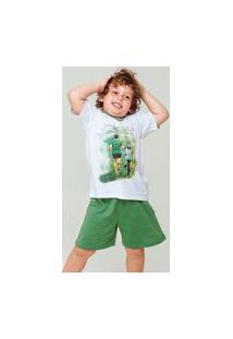 Pijama Masculino Gola V Malha Inf Atleta Verde