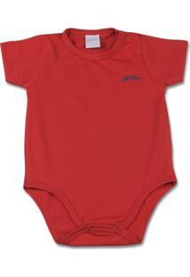 Body Bebê Básico Cotton Lycra Liso - Vermelho 1 - Feminino-Vermelho