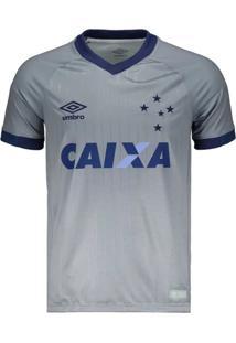 Camisa Umbro Cruzeiro Oficial Iii 2018 Prata