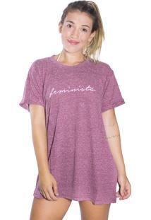 Camiseta Langai Feminista Lilás