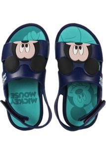 Sandália Infantil Grendene Mickey Minnie Masculina - Masculino-Azul