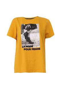 Camiseta Sommer Foto Amarela