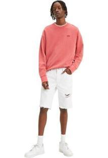 Bermuda Jeans Levis 511 Slim Cutoff - Masculino-Branco
