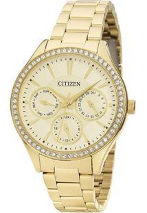 Relógio Analógico Tz28404G- Dourado- Citizencitizen