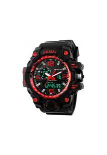 Relógio Digital E Analógico S-Shock Skmei 1155 - Vermelho