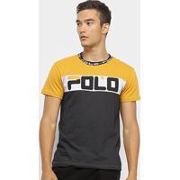 8342dcb930 Camiseta Polo Rg 518 Malha Pontos Masculina - Masculino-Amarelo+Cinza