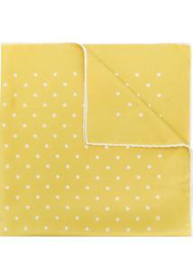 Holland & Holland Cachecol De Seda Com Poás - Amarelo