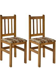Conjunto Com 2 Cadeiras Di Marzio Marrom