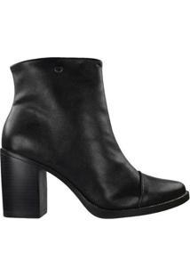 Bota Quiz Ankle Boot Feminina - Feminino-Preto