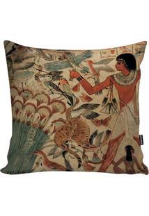 Capa Para Almofada Egyptian Culture- Bege Claro & Marromstm Home