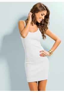 Mini Vestido De Alça (Branco)