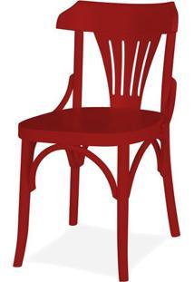 Cadeira Opzione Acabamento Vermelho - 14217 - Sun House