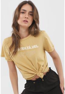 Camiseta Colcci Lettering Bege - Kanui