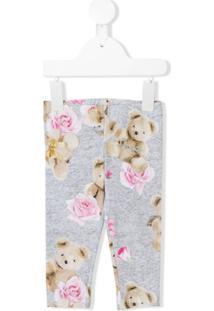 Lapin House Calça Legging 'Teddy Bear' - Cinza