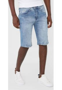 Bermuda Jeans Calvin Klein Jeans Slim Estonada Azul - Kanui