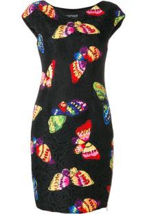 Boutique Moschino Vestido Com Estampa De Borboletas - Preto