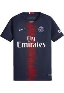 Camisa Infantil Nike Psg 2018/19 Torcedor Marinho/Vermelho - P