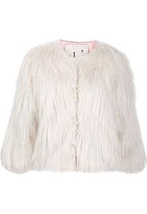 L'Autre Chose Jaqueta Com Pelos - Branco