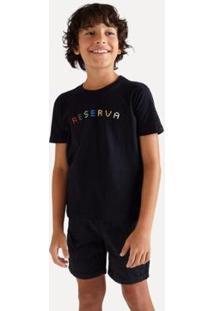 Camiseta Infantil Reserva Mini Sm Silk Reserva Color Masculina - Masculino