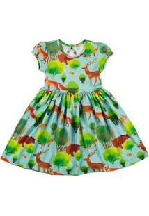 Vestido Infantil Floresta