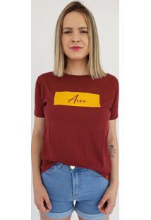 T-Shirt Aero Jeans Bordô