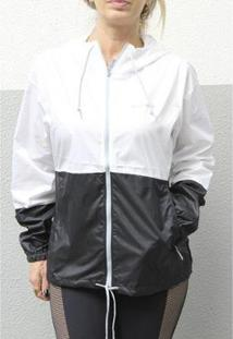 Jaqueta Columbia Flash Forward Windbreaker - Feminino-Preto+Branco