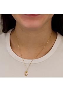 Pingente De Ouro Com Pérola Mini Ninho - Pg18092