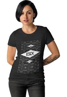 Camiseta Feminina Ezok Skate Lane Preto