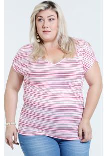 Blusa Feminina Plus Size Listrada Marisa