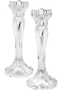 Castiçal Cristal Romance - Unissex