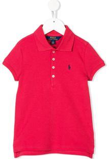 Ralph Lauren Kids Camisa Polo Com Logo - Vermelho