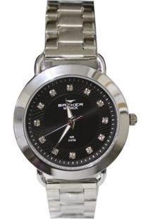 Relógio Feminino Backer Analógico 3986123F - Unissex-Prata