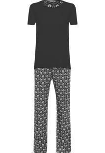 Pijama Feminino Marie - Preto