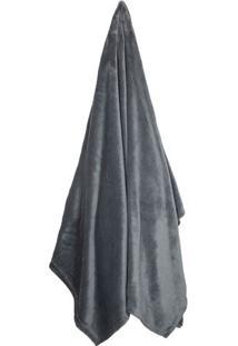 Cobertor Velour De Solteiro- Cinza Escuro- 150X200Cmcamesa