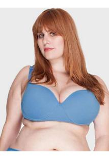 Sutiã Básico Plus Size Azul Azul