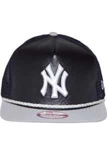 Boné New Era 950 A-Frame Project Snake Front New York Yankees Mlb Preto d76d4982f41