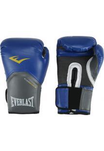 fb4aa6114 Luvas De Boxe Everlast Pro Style Elite 14 Oz - Azul Branco