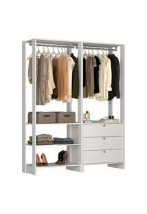 Estante Closet Nova Mobile Ey101 Yes 3 Gavetas E 4 Prateleiras