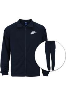 84d3b0dd82e81 Agasalho Nike Sportswear Track Suit Pk Basic - Masculino - Azul Esc Branco
