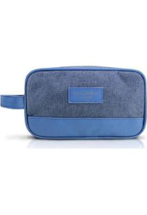 Necessaire Jacki Design Com Alça Lateral Be You - Unissex-Azul
