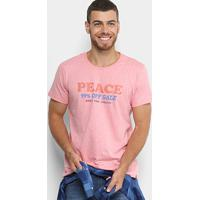 7fb6717113 Camiseta Colcci Estampa Peace Masculina - Masculino-Rosa+Laranja