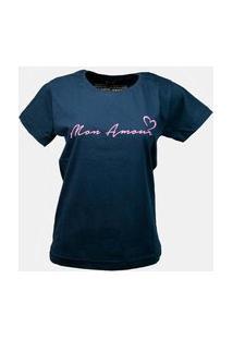 T-Shirt Mon Amour Azul