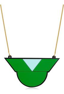 Colar Le Diamond Geométrico Verde - Kanui