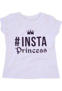 Camiseta Doll Up Insta Princess Manga Curta Menina