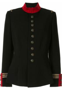 Ralph Lauren Collection Jaqueta Militar Slim - Preto