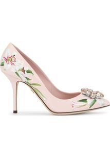 Dolce & Gabbana Sapato Com Estampa De Lírios - Rosa
