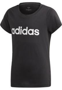 Camiseta Infantil Adidas Yg E Lin Feminina - Feminino-Preto