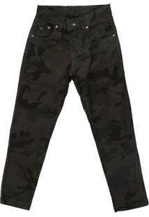 Calça Jeans Juvenil Bivik Para Menino - Verde