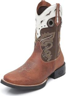 Bota Elite Country Denison Couro Cafe/Gelo
